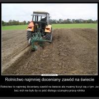 Rolnictwo najmniej doceniany zawód na świecie